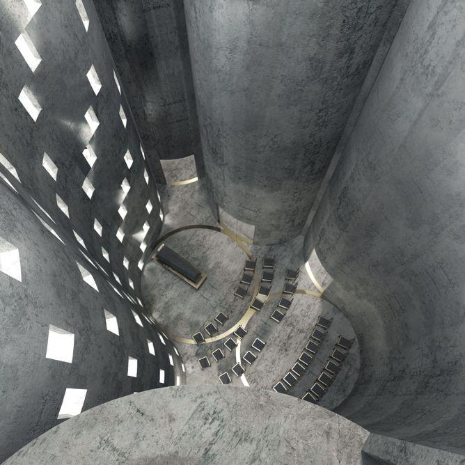 Omgebouwde silo wordt crematorium annex columbarium