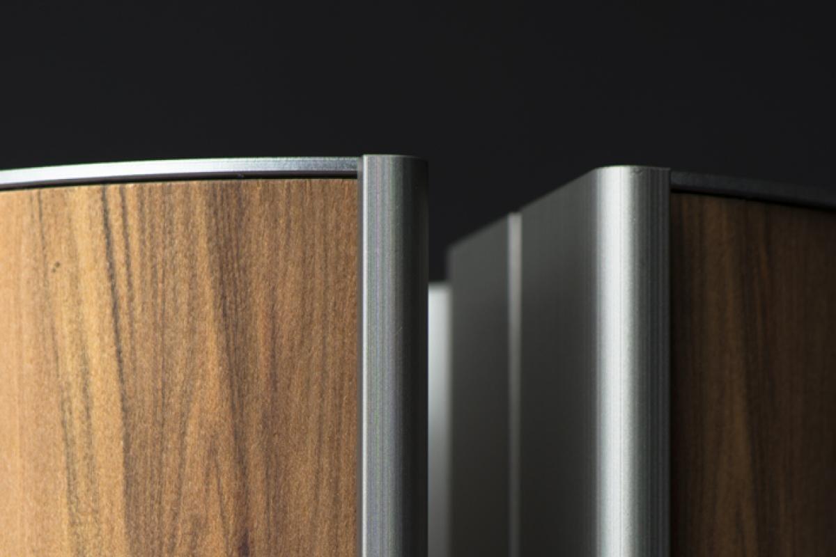 illum urn - Satin Walnut Platinum