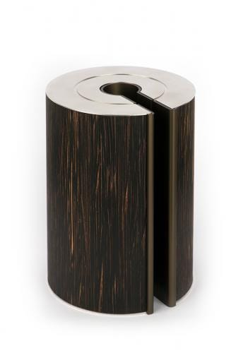 illum urn - palmwood and bronze
