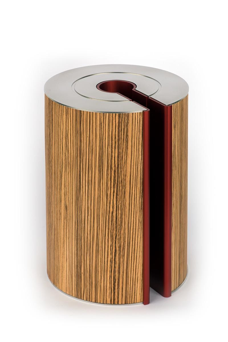 illum urn - Zebrano - Burgundy