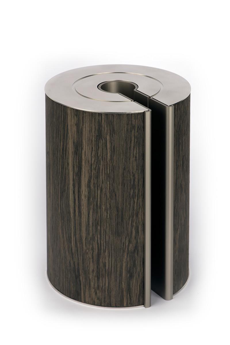 illum urn - Fossil Oak - Platinum